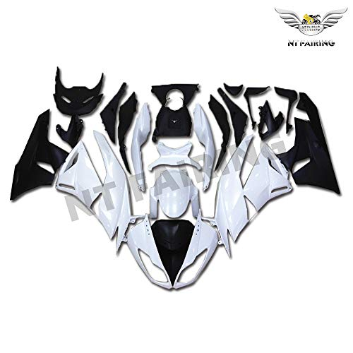 New White Fairing Fit for Kawasaki Ninja 2009-2012 ZX6R 636 ZX-6R Injection Mold ABS Plastics Aftermarket Bodywork Bodyframe 2010 2011 09 10 11 12