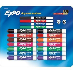 Sanford Corp Expo Low Odor Dry Erase Assorted Colors 18ct Pk (Expo Dry Erase Markers Medium)