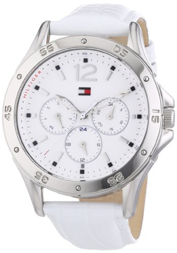 Tommy Hilfiger White Dial White Leather Ladies Watch 1781300