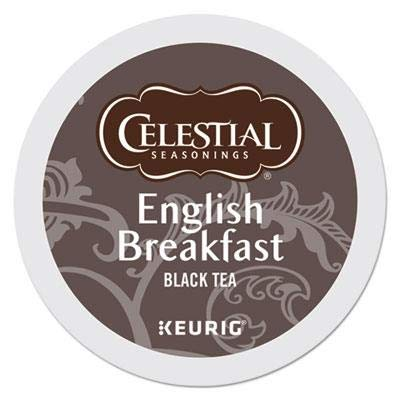 Celestial Seasonings 14731CT English Breakfast Black Tea K-Cups, - Celestial English Breakfast Seasonings