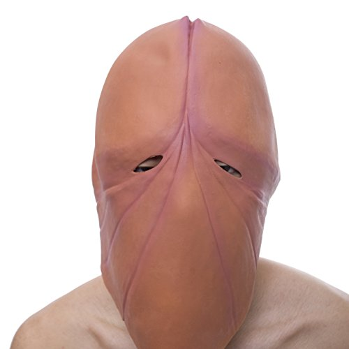 Halloween Novelty Mask Molezu Costume Party Penis Mask Latex Head Funny Mask