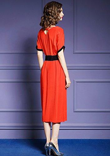 A Line V Neck Women`s Dresses Casual Dress Split cotyledon Elegant 74wx5qxE