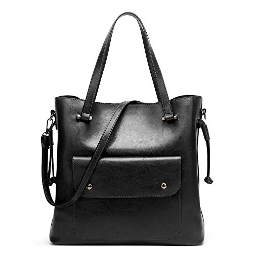 - Cawmixy Hobo Women Satchel Soft Shoulder Bags Classic Tote Ladies Purses Designer Woman Bags (A Black)
