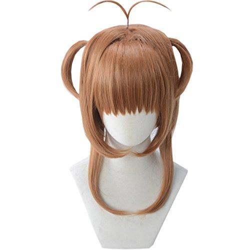 magic acgn Short Straight Lolita Brown Sakura Kinomoto For Women girls Cosplay Costume Halloween Wig