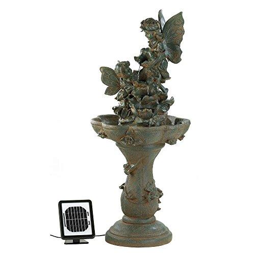 Fountain, Antique Decorative Modern Garden Backyard Fairy Solar Water Fountains by Cascading Fountains