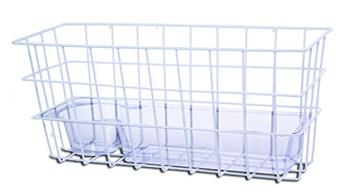 (Essential Medical Supply Universal Wire Basket with Tray and Attachments, Will Fit on Any Walker)