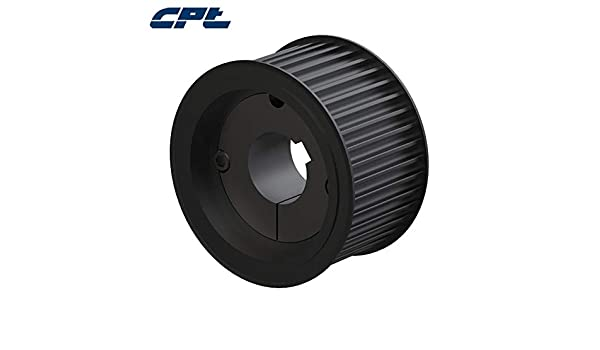 1//2 to 1 Bore Range For 3//4 and 1 Width Belt 1//2 Pitch 2.546 Pitch Diameter 1//2 to 1 Bore Range For 3//4 and 1 Width Belt 1//2 Pitch 16 Groove 2.546 Pitch Diameter Gates TL16H100 PowerGrip Sintered Steel Timing Pulley