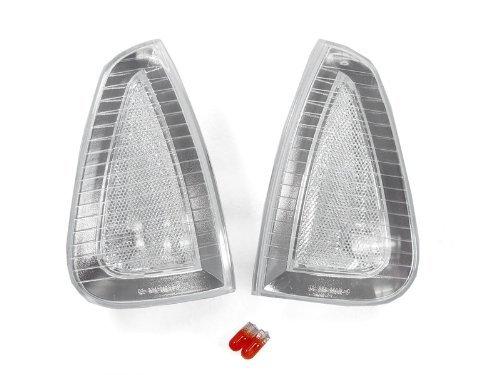 Chrome Trim Clear Lens Front Corner Light Set By DEPO Fit 2006-2010 Dodge Charger R//T SRT8 SXT