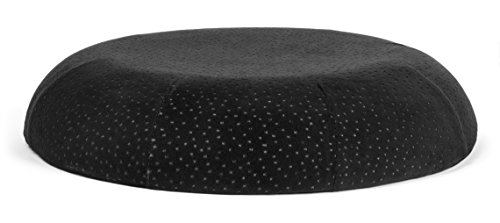 Donut Pillow - Queen Size Memory Foam Seat Cushion by Aeris - Premium Donut Cushion with Machine Washable Black Plush Velour Cover - Anti Hemorrhoids -Start Getting Comfortable While Sitting Now.