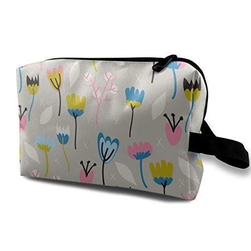 Black Swan Floras Cosmetic Bags Makeup Organizer Bag Pouch Zipper Purse Handbag Clutch Bag