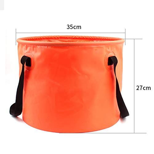 Vinmax Collapsible Bucket Camping Water Storage Container 30L Portable Folding Bucket Wash Basin for Traveling Hiking Fishing Boating Gardening