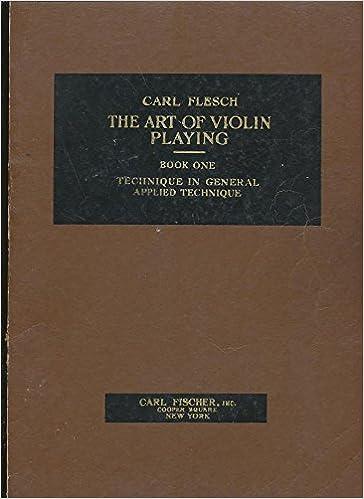 Arte Del Violino Vol 1 Carl Flesch Violin Learn to Play Classical MUSIC BOOK