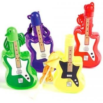Guitar Shaped Bubble Bottle Necklaces (1 dz) by Fun Express -