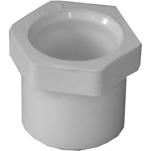 Genova Products 30275CP 3/4-Inch by 1/2-Inch PVC Pipe Reducing Bushing Spigot by Slip - 10 - Genova White Bushings