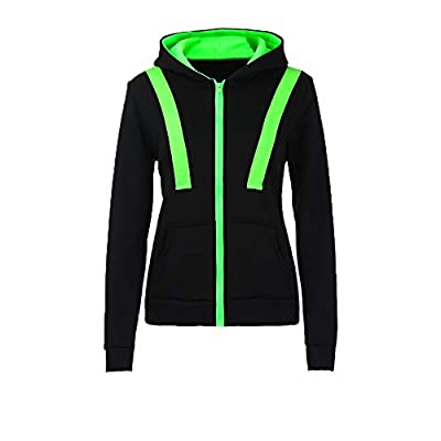 Clearance!! Women Zip Up Hoodie,Lelili Three-Color Patchwork Long Sleeve Hooded Jacket Outwear With Pockets