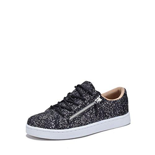 Droom Zoek 7540l Glitter Damesmode Sneakers Grey.bk