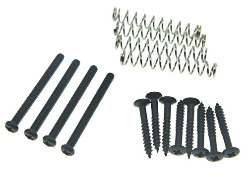 KAISH Imperial/USA Thread Humbucker Pickup Height Screws Humbucker Pickup Ring Pickup Surround Frame Mounting Screws Springs Fits Gibson/EMG/Seymour Duncan/Dimarzio Black