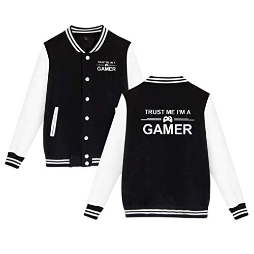 Vounsainie Trust ME I'm A Gamer Mens & Womens Unisex Cool Baseball Uniform Jacket Sport Coat M