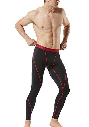 TSLA TM-MUP19-KKR_Small Men's Compression Pants Baselayer Cool Dry Sports Tights Leggings MUP19