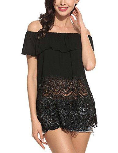 ANGVNS Womens Summer Shoulder T Shirt