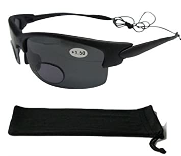 Bifokal Sonnenbrille Schwarz Polarisiert Angeln Segeln Sport 100% UV-Schutz 160+ 3,00