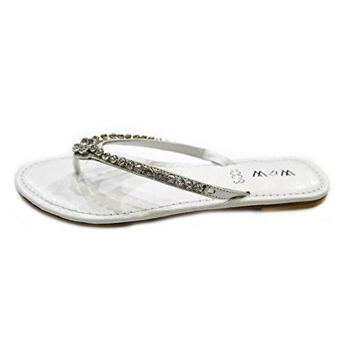 antidérapant W Silver plat Mesdames Confort chaussures Suisse sandale sur femmes taille W Soirée amp; Diamante rp0wa6pqX