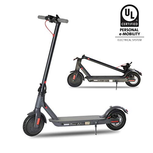Electric Scooter,UL Certified 8.5' Tires Portable Folding Motorized Scooter,300W Motor Propels,Long-Range Battery,Max Speed of 15.8 MPH Up to 18.6 Miles, Electric Scooter for Adults