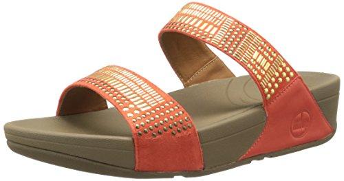 Aztec Sandal - FitFlop Women's Aztec Chada Slide Slide Sandal,Ultra Orange,9 M US