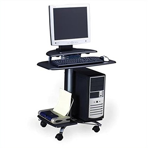 Mayline 948MEC SOHO Mobile Personal Computer Workstation, Medium Cherry Tf/Metallic Gray Frame ()