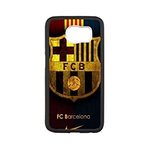 Durable Hard cover Customized TPU case FC Barcelona Team Logo Samsung Galaxy S6 Cell Phone Case White