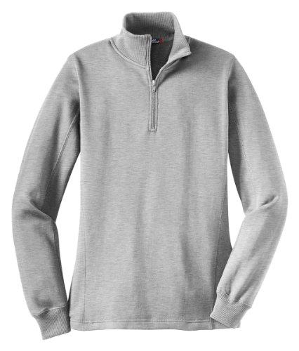 Sport Tek Ladies 1/4 Zip Sweatshirt. LST253 [Apparel]X-Large,Grey -