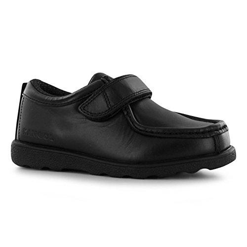 Kangol Waltham Kinder Schuhe Schulschuhe Moc Toe Klettverschluss Halbschuhe Schwarz