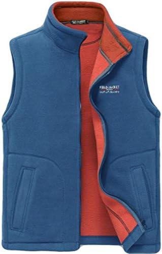 ベスト ベスト男性の春と秋のフリース暖かいフリースベストアウトドアスポーツカーディガンキャッチフリースベストのベストのジャケット (Color : C, Size : S)