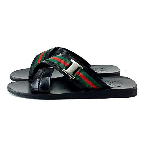 kiara shoes Hombres Zapatos Sandalias-S156 Nero
