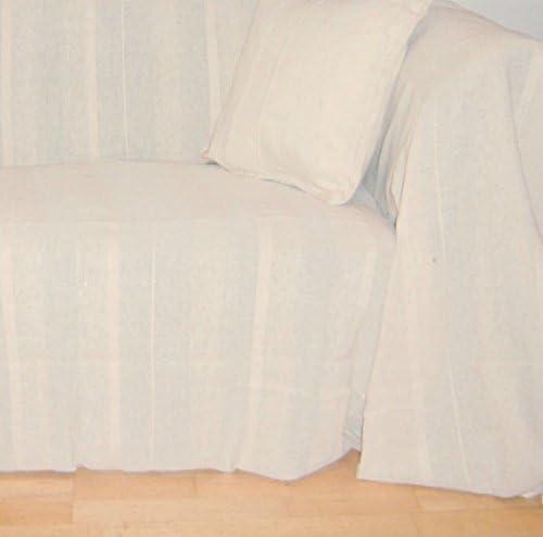 100% algodón natural/CREMA manta 225 x 250 cms para 2 y 3 mantas ...