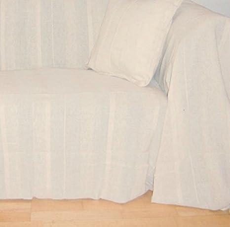 100% algodón natural/CREMA manta 225 x 250 cms para 2 y 3 ...