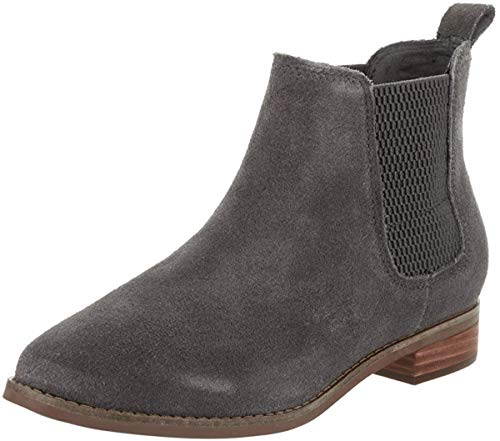 TOMS Ella Boot - Women's Forged Iron Grey Suede, 7