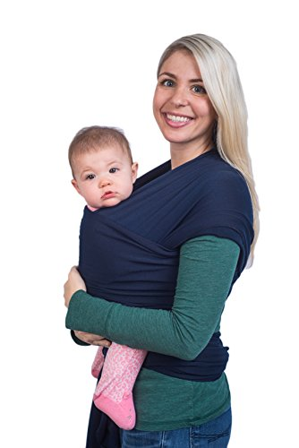 8a34d5a92be Navy Blue Baby Sling Wrap Carrier by Cozitot