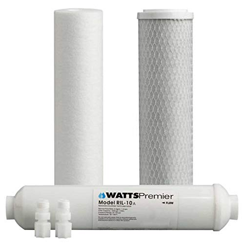 Watts Premier WP560032 Standard 10 Inch 4-Stage Filter Kit with 10 Inch Inline (Watts 4 Stage Reverse Osmosis Replacement Filters)
