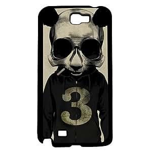 Panda Wearing Grey Hoodie Hard Snap on Phone Case (Note 2 II)