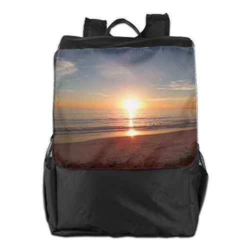 Malibu Shoulder Pack - Summer Moon Fire Multifunction Outdoor Backpacks Malibu Beach Shoulder Bag Youth