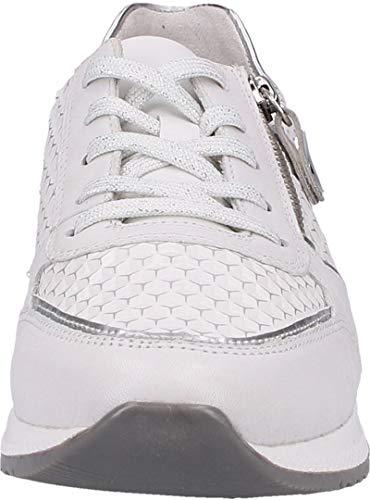 Femme argento 80 Blanc weiss R7024 Basses reinweiss Remonte weiss silber Sneakers FUtqgZ