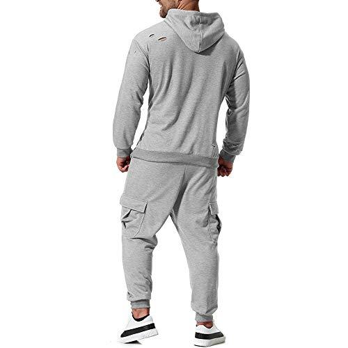 Sport Casual Abcone Maschi Leisure Pantaloni Uomo Grigio Elastici Sportiva Pants Felpa Top Tuta Uomo Inverno Autunno Suit Set ZRqw7tR