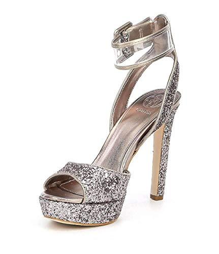 GUESS Women's Catana Platform Dress Sandals Light Pink Size 7M (Guess Evening Shoes)