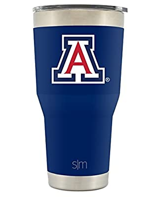 Simple Modern NBA & NCAA 30oz Cruiser Tumblers with Closing Lid and Straw - 18/8 Stainless Steel Vacuum Insulated Travel Mug Mens Womens Gift