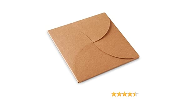 Selfpackaging Caja para Invitaciones. Cartulina Kraft. Pack de 50 Unidades. Sirve también para CD - L: Amazon.es: Hogar