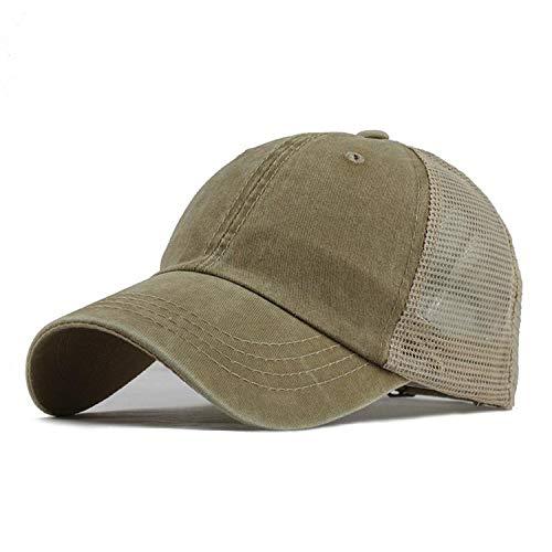 Beauty-OU New Men's Baseball Cap Print Summer Mesh Cap Hats for Men Women Snapback Gorras Hombre Dad Hats Casual Hip Hop Caps,Khaki -