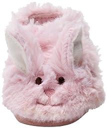 Robeez Fuzzy Bunny Slipper Crib Shoe (Infant), Pink, 0-6 Months M US Infant