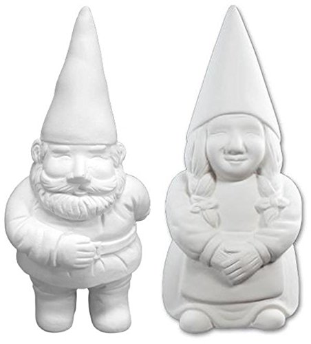 Ceramic Garden Gnomes (George and Gwen The Garden Gnomes - Paint Your Own Gnome-y Ceramic Keepsakes)