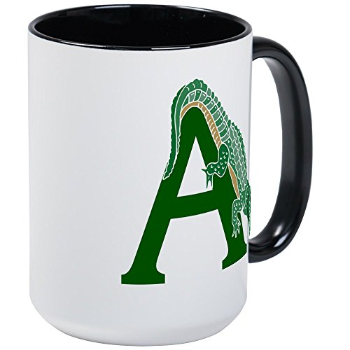 CafePress - A......Alligator Large Mug - Coffee Mug, Large 15 oz. White Coffee (Cool Swamp Gator)